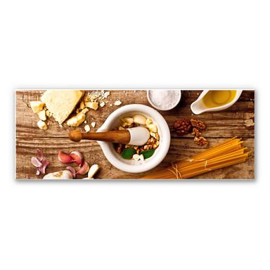 Wandbild Laercio - Pesto Rezept - Panorama