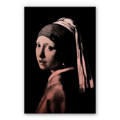 Alu-Dibond-Kupfereffekt - Vermeer - Das Mädchen mit dem Perlenorhgehänge