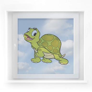 Fensterbild Benjamin Blümchen - Schildkröte Selma