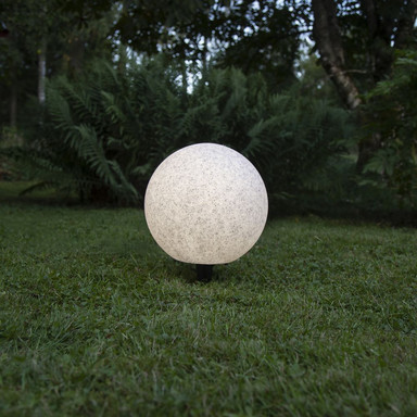 Gartenkugel Gardenlight in Weiss-Grau E27 300 mm