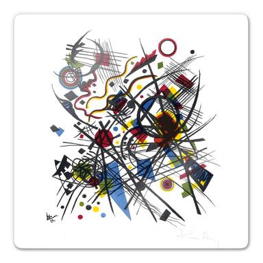 Glasbild Kandinsky - Lithographie fuer die Bauhausmappe