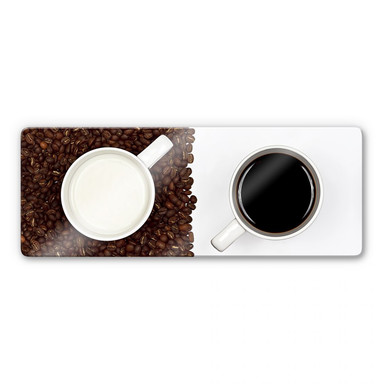 Glasbild Lavsen - White Espresso - Panorama