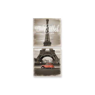 Holzbild Set La Vie est Belle (2-teilig)