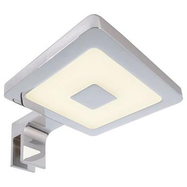 LED Spiegelleuchte Eckig II in Silber und Chrom 4.5W 230lm 3000K IP44