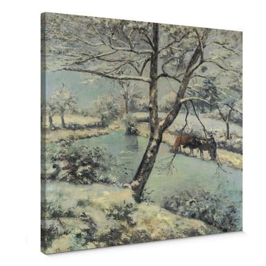 Leinwandbild Pissarro - Winterlandschaft bei Mont-Foucault