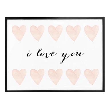 Poster Confetti & Cream - I love you