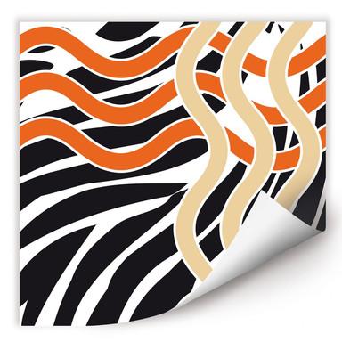 Wallprint Welle orange