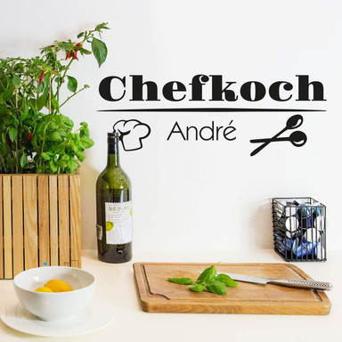 Wandtattoo Chefkoch