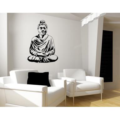 Wandtattoo Meditierender Buddha I