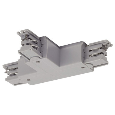 3-Phasen S-Track, Aufbauschiene, T-Verbinder, silber-grau, Schutzleiter innen links