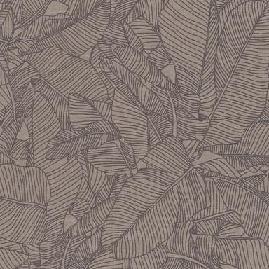 A.S. Création Vliestapete Linen Style Tapete mit Blätter Muster beige, grau, schwarz