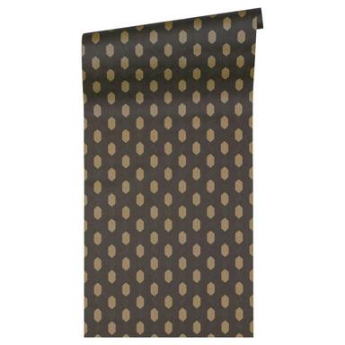 Architects Paper Vliestapete Absolutely Chic Tapete geometrisch grafisch metallic, schwarz, braun