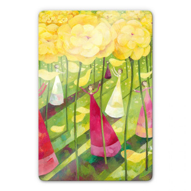 Glasbild Blanz - Blumenwiese
