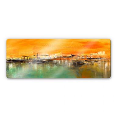 Glasbild Niksic - Am Wasser - Panorama - Bild 1