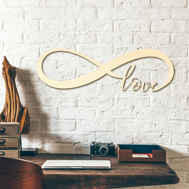 Holzkunst - Unendlich Love - Pappel