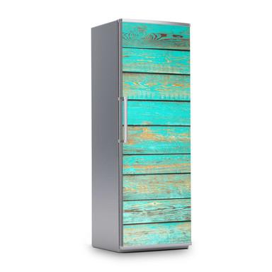 Kühlschrankfolie 60x180cm - Wooden Aqua- Bild 1