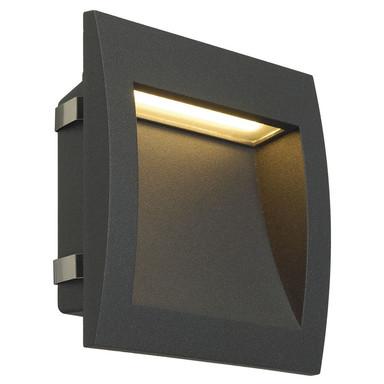 LED Wandeinbauleuchte Downunder Out L, IP55. 3000K, anthrazit