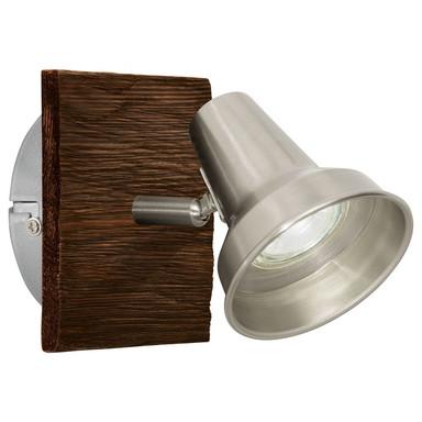 LED Wandleuchte, braun, 1-flammig