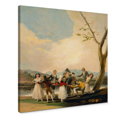 Leinwandbild de Goya - Das Blindekuhspiel