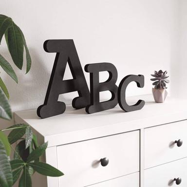 MDF-Holzbuchstaben - Alphabet Courier