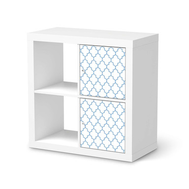Möbelfolie IKEA Kallax Regal 2 Türen (hoch) - Retro Pattern - Blau