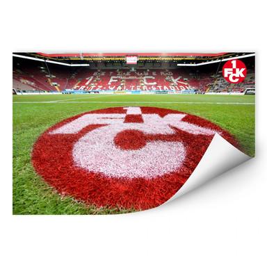 Wallprint 1. FC Kaiserslautern - Rasen Logo
