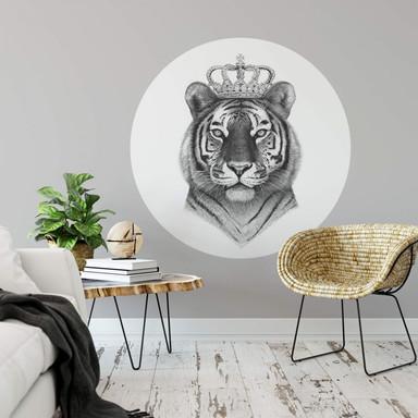 Wandtattoo Korenkova - The Tiger King - Rund