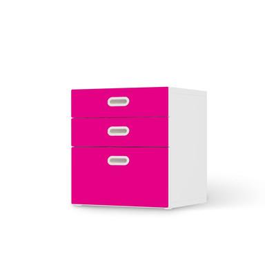 Folie IKEA Stuva / Fritids Kommode - 3 Schubladen - Pink Dark