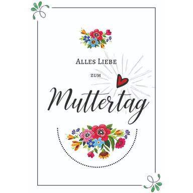 Gutschein Muttertag - Bunte Blumen