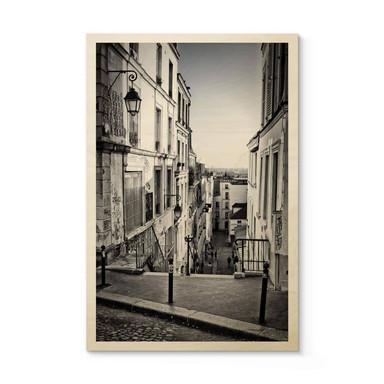 Holzposter Montmartre