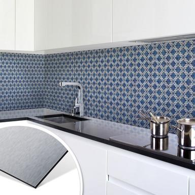 Küchenrückwand - Alu-Dibond-Silber - Holland Kacheln 04