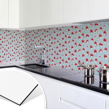Küchenrückwand - Alu Dibond - Blanz - Glückspilze