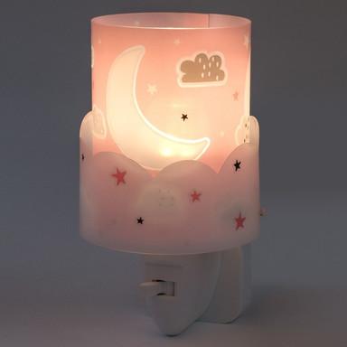 LED Kinderzimmer Nachtlicht Moon in Pink