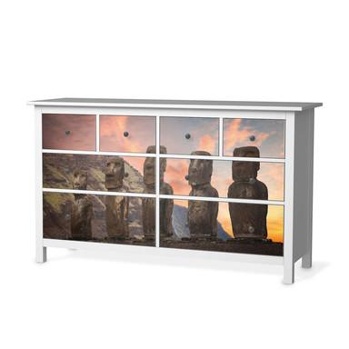 Möbelfolie IKEA Hemnes Kommode 8 Schubladen - Easter Island
