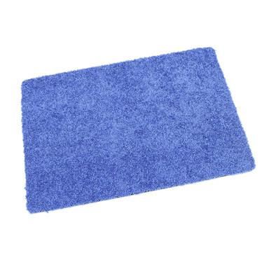 Protex waschbare Fussmatte blau