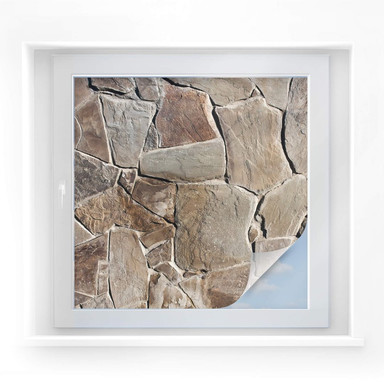 Sichtschutzfolie Mediterrane Maueroptik - quadratisch
