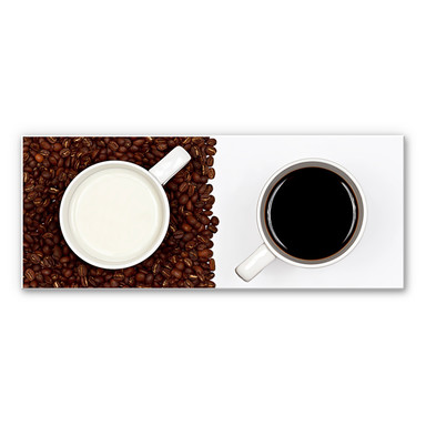 Wandbild Lavsen - White Espresso - Panorama