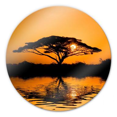 Glasbild Afrika - rund