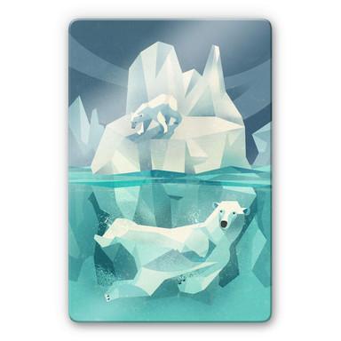 Glasbild Braun - Polar Bear