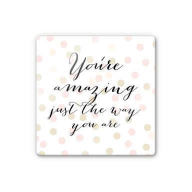 Glasbild Confetti & Cream - You are amazing