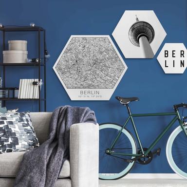 Hexagon - Alu-Dibond - Typisch Berlin (3-teilig) - Bild 1