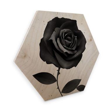 Hexagon - Holz Birke-Furnier Ireland - Fabric Rose