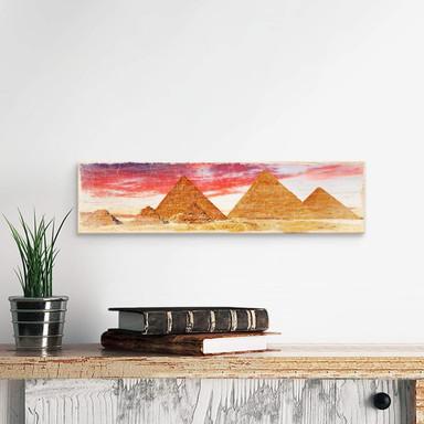 Holzschild Die Pyramiden von Gizeh