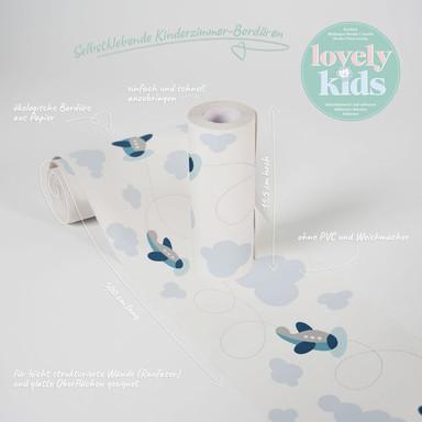 Lovely Kids selbstklebende Kinderzimmer Bordüre Cute Planes mit Flugzeugen