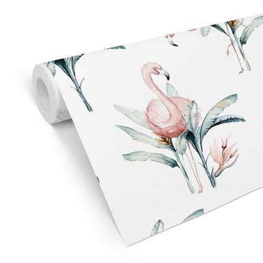 Mustertapete Kvilis - Flamingos