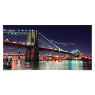 Poster Manhattan Bridge at Night 2
