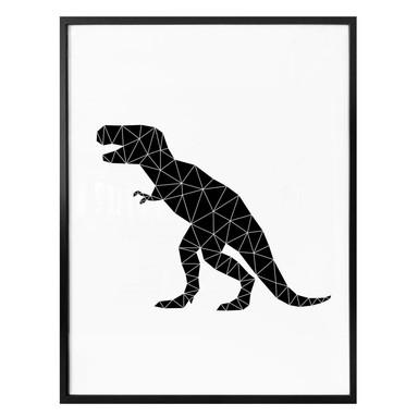 Poster Nouveauprints - Geometric Dinosaur T-Rex