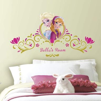 Wandsticker Die Eiskönigin - Anna und Elsa inkl. Buchstaben - Maxi Sticker - Bild 1