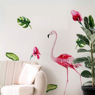 Wandtattoo Kvilis - Tropic Flamingo Set 01