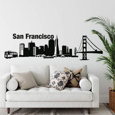 Wandtattoo San Francisco Skyline